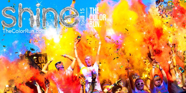 The Color Run 2015 Shine Tour, The Color Run 2015 race giveaway