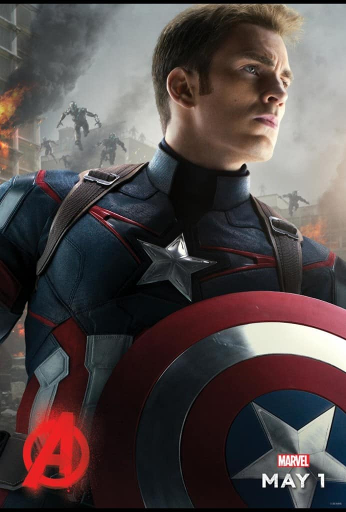 Avengers Age of Ultron review, free coloring sheets, Captain America