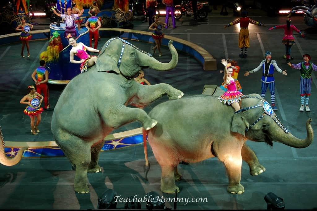 Ringling Bros. and Barnum & Bailey presents LEGENDS!  Ringling Bros elephants