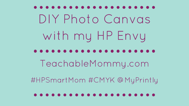 DIY Photo Canvas, Easy DIY Photo Canvas, How to put a photo on a canvas, #HPSmartMom