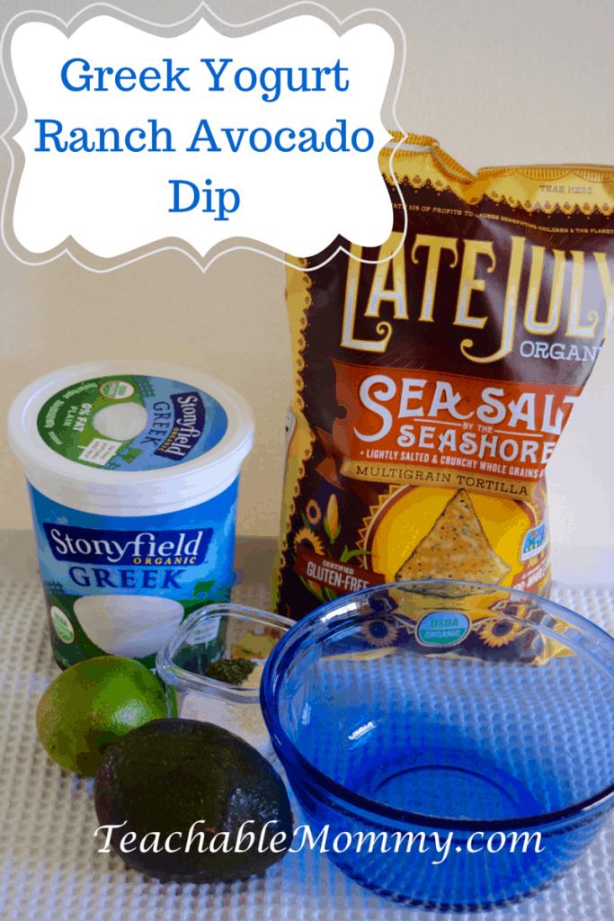 Greek Yogurt Ranch Avocado Dip, Greek Yogurt Avocado Ranch Dip, #StonyfieldBlogger
