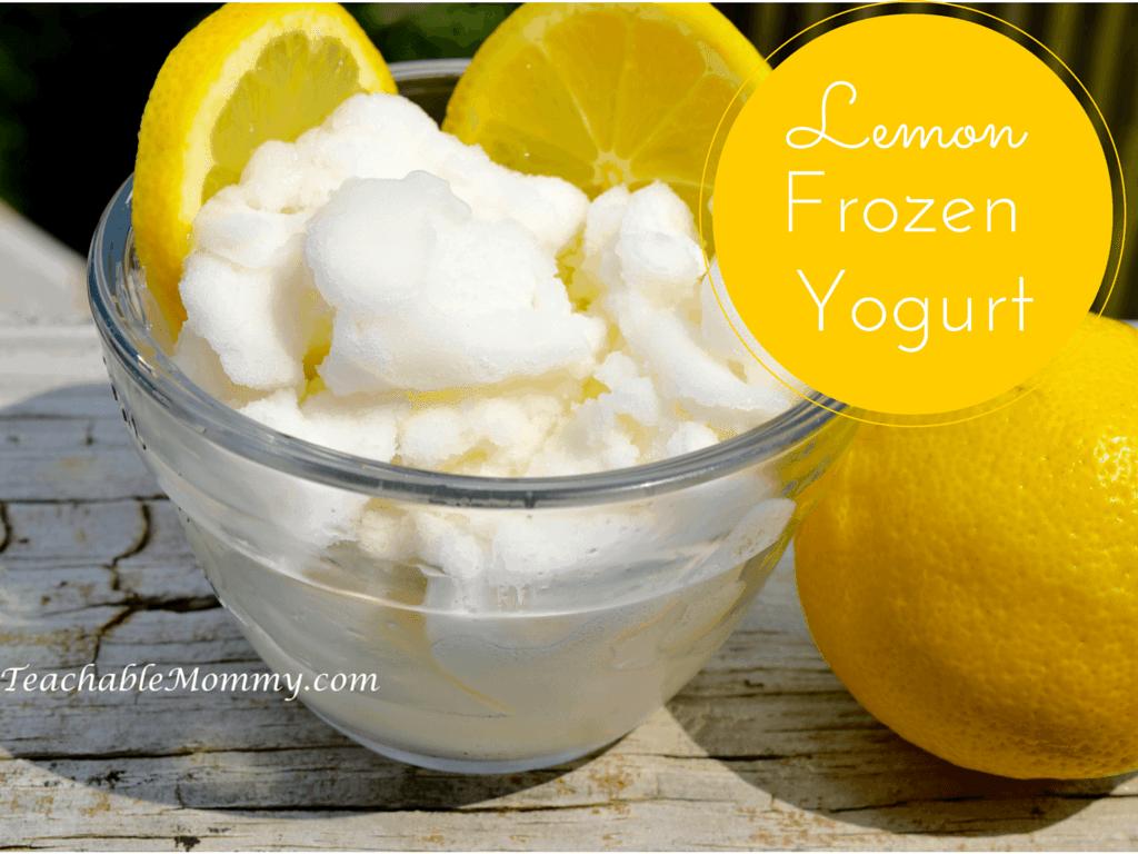 Lemon Frozen Yogurt, #SGSnackSwap, #SGSavvySnacker