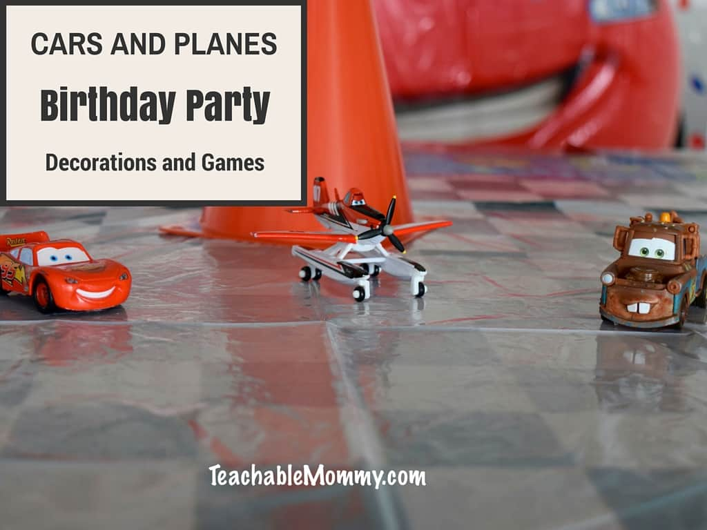 Cars And Planes Birthday Party Decorations And Games With Ashley