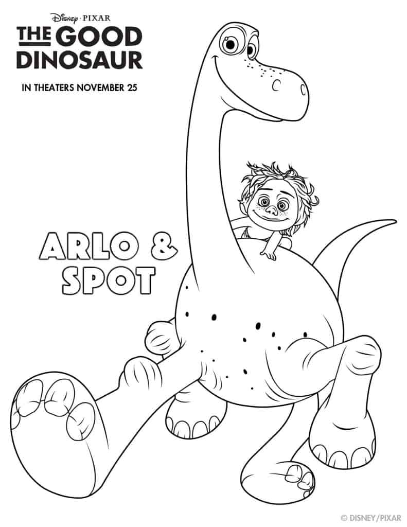 The Good Dinosaur Free printable, The Good Dinosaur activities, #GoodDino, The Good Dinosaur coloring pages