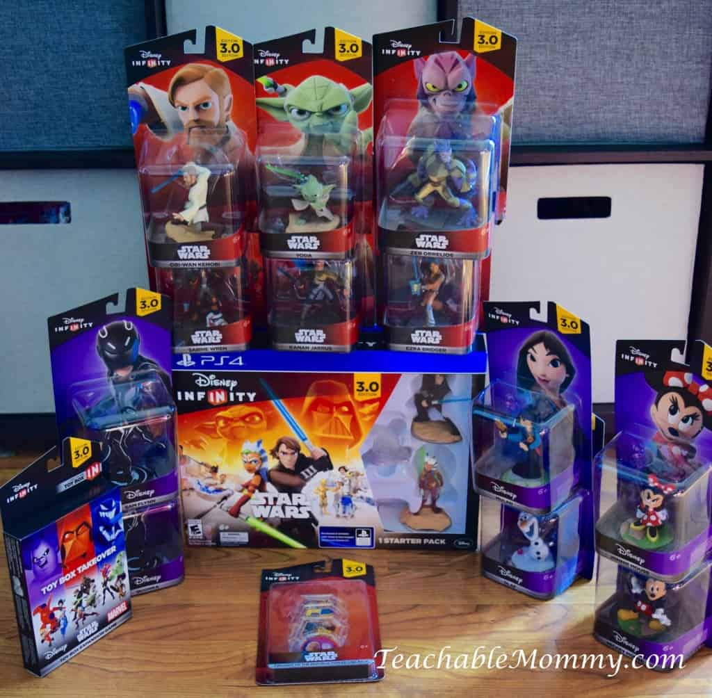 Disney Infinity 3.0, Star Wars Game, Star Wars Playset, Twilight of the Republic, #DisneyInfinity, Mulan, Mickey and Minnie, Tron