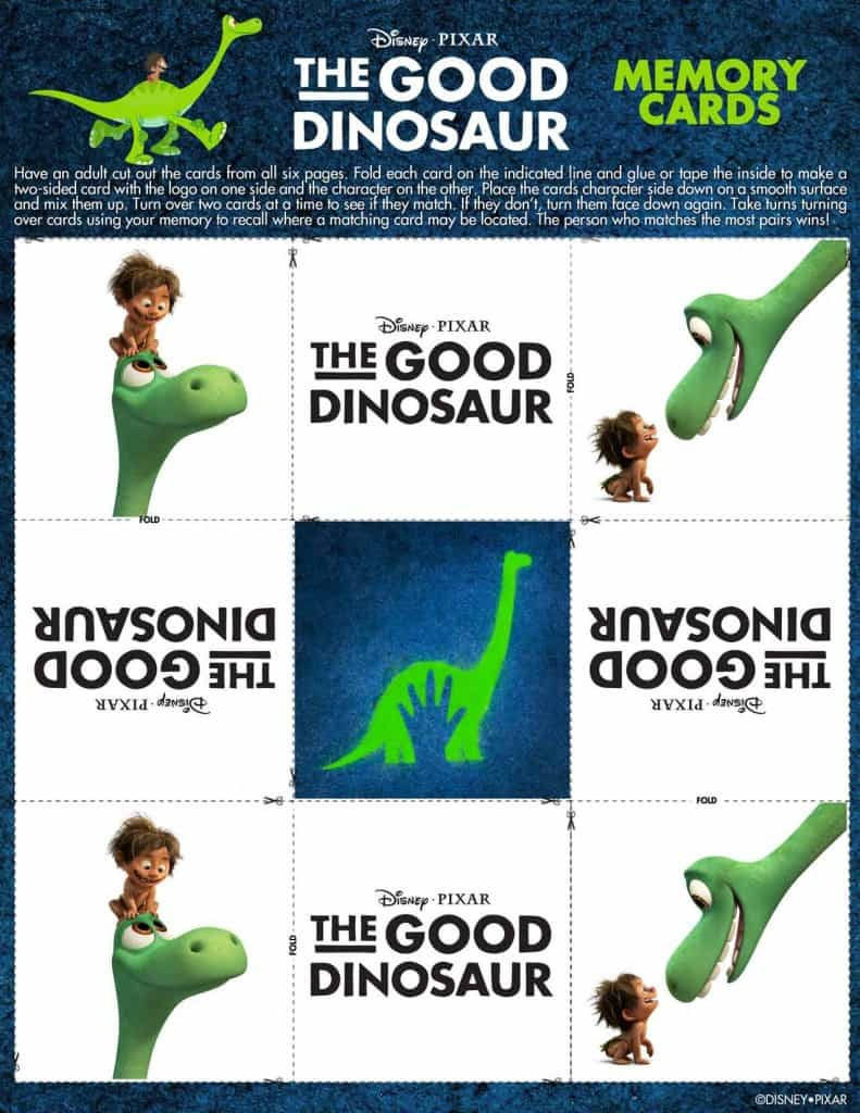 The Good Dinosaur Free printable, The Good Dinosaur activities, #GoodDino, The Good Dinosaur game