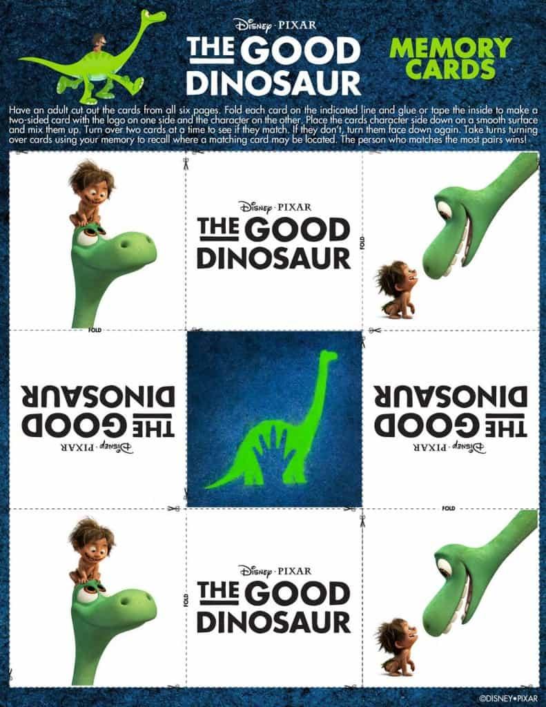 The Good Dinosaur Free printable, The Good Dinosaur activities, #GoodDino, The Good Dinosaur game