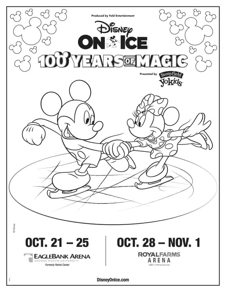 Disney On Ice Coloring Sheet, Disney On Ice free printable, Disney On Ice Discount, spon