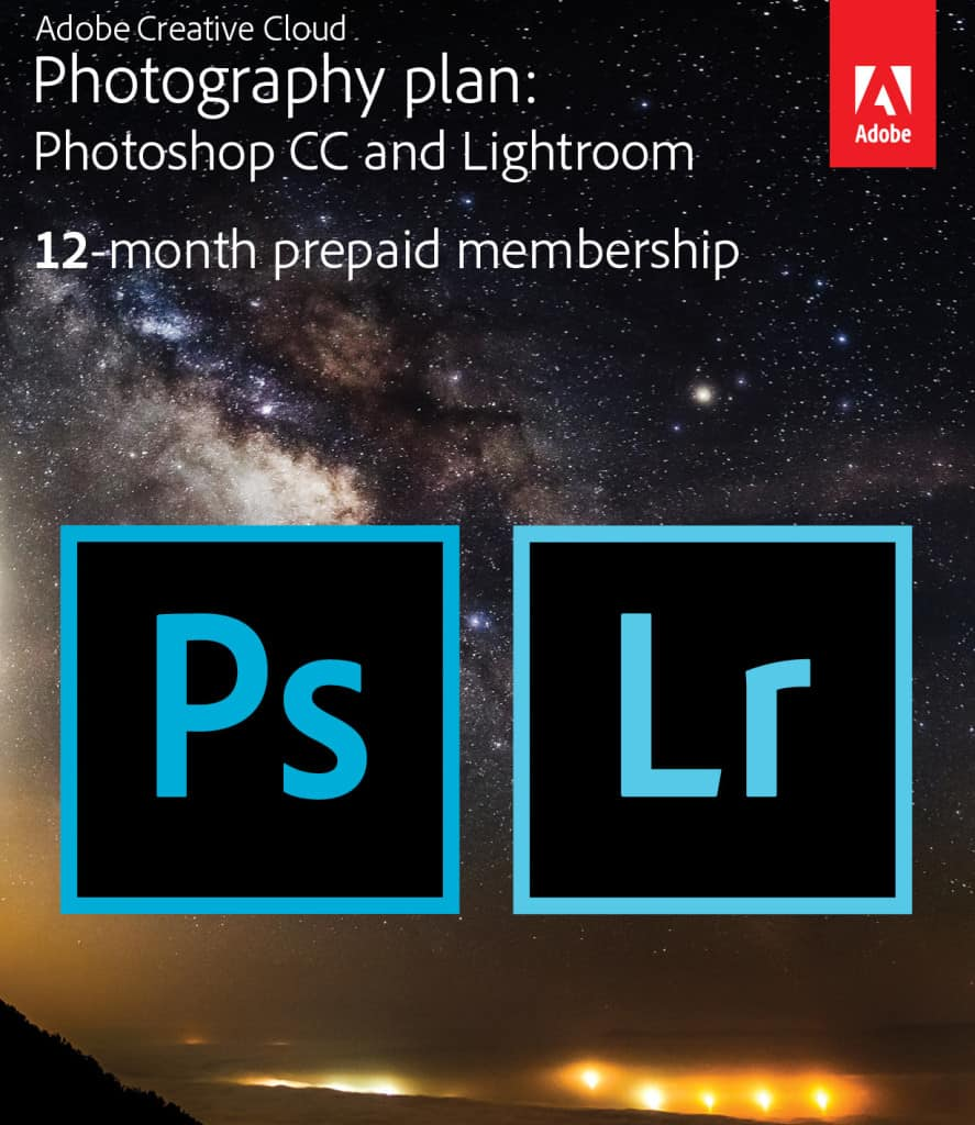 Adobe Creative Cloud Photography Plan, Photoshop CC, Lightroom, Cloud Based Photoshop, #ad