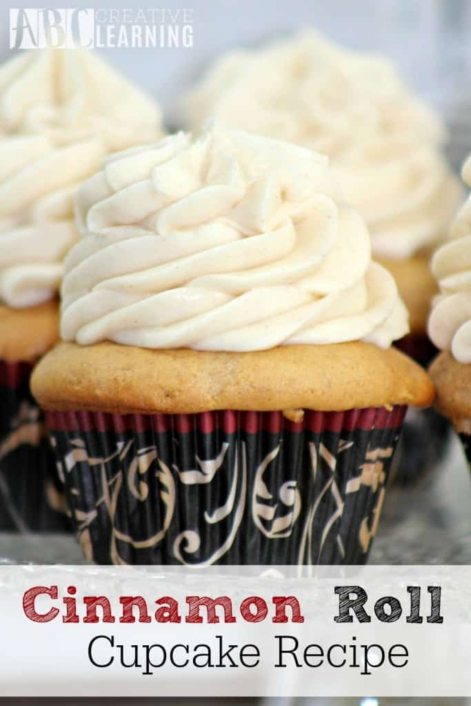 Cinnamon Roll Cupcake Recipe, Fall Recipes, Fall recipe roundup