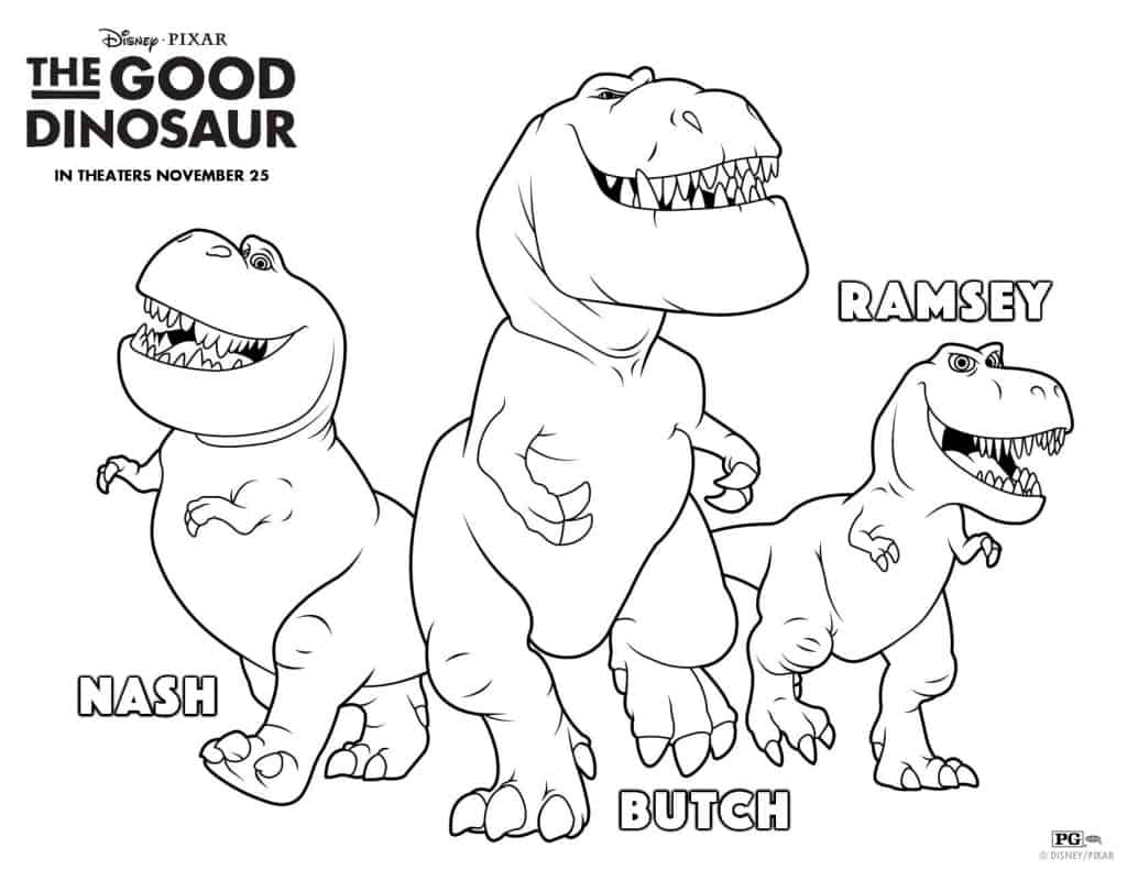The Good Dinosaur free printable, free activities, The Good Dinosaur pumpkin stencil, The Good Dinosaur coloring pages