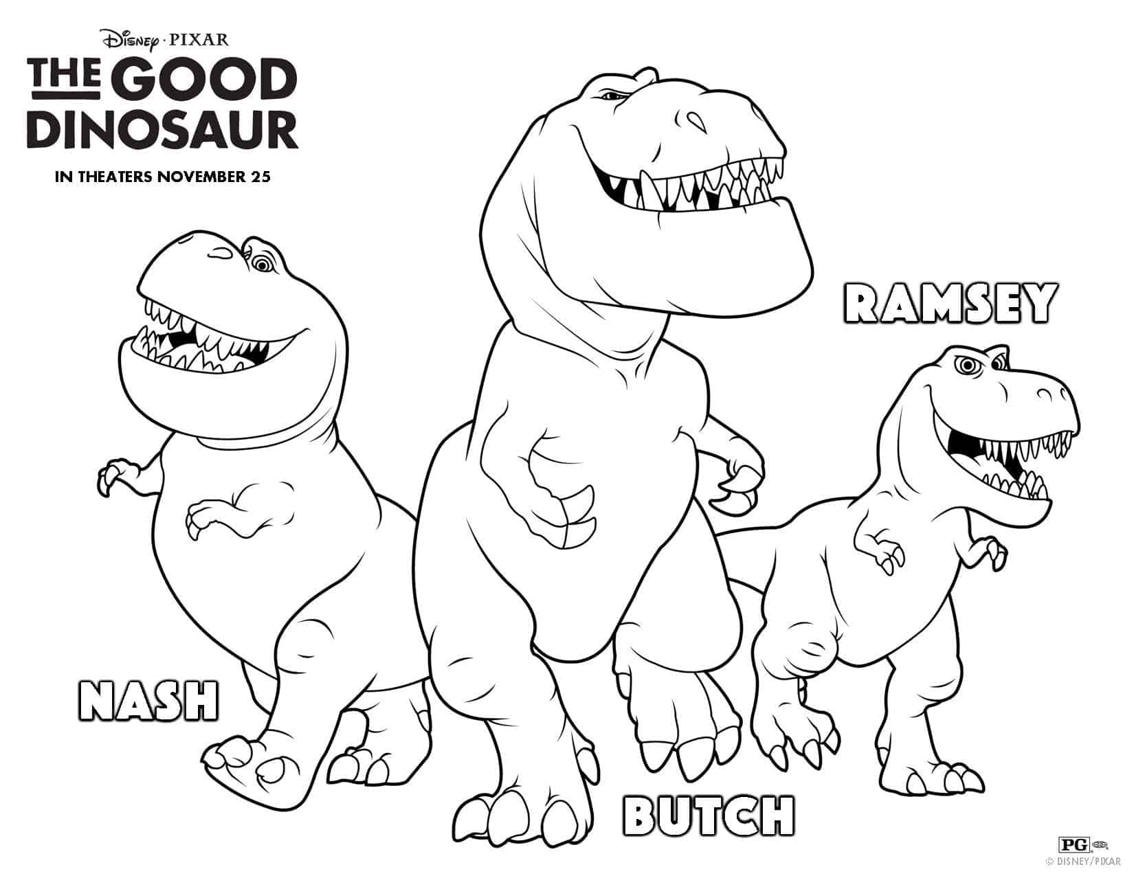 Dinosaur coloring pages with names - The Good Dinosaur Free Printable Free Activities The Good Dinosaur Pumpkin Stencil The