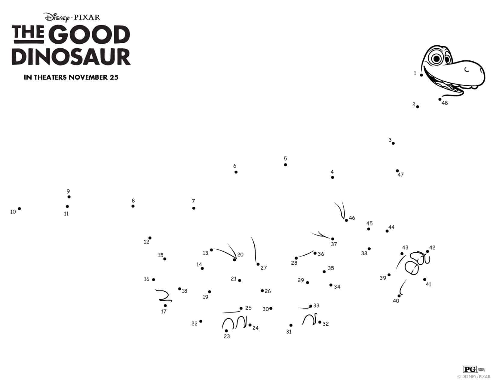 The Good Dinosaur Pumpkin Stencil and Activities Teachable Mommy