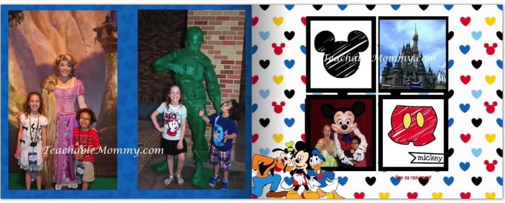 Disney themed Shutterfly Photo Book,