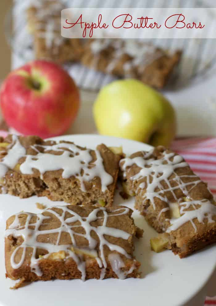 Apple Butter Bars, Fall Recipes