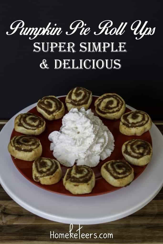 Pumpkin Pie Roll Ups, Fall Recipes