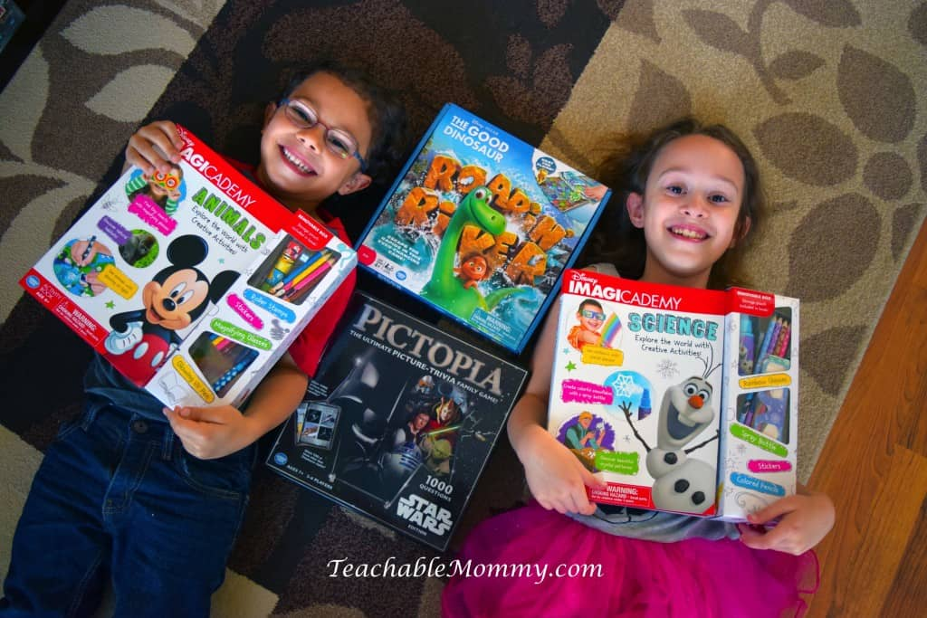 The Good Dinosaur Game, Star Wars Game, Disney Imagicademy Activity Books, homeschool games, game gift guide