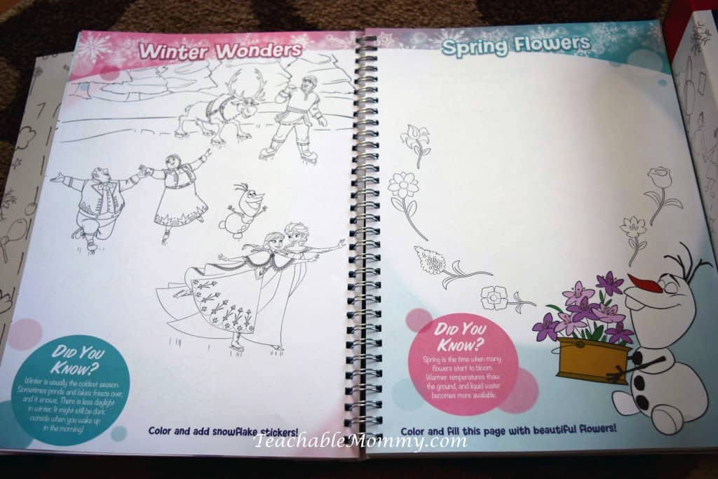 Disney Imagicademy Activity Books, educational gift ideas, homeschool