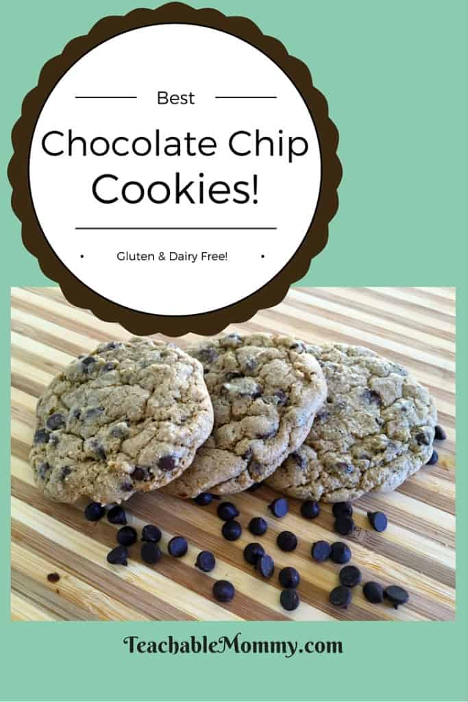 Gluten Free Chocolate Chip Cookies, Gluten Free Dairy Free Chocolate Chip Cookies, Dairy Free Chocolate Chip cookies, organic chocolate chip cookies, the best chocolate chip cookies ever
