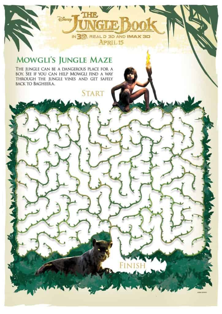 The Jungle Book, Jungle Book free printables