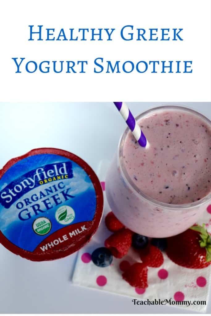 Greek Yogurt Smoothie, Healthy Yogurt Smoothie, Smoothie Recipes, Organic Smoothies, Skinny Smoothie Recipes