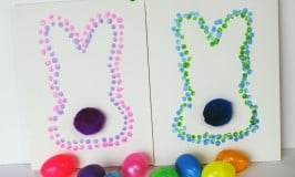 Easter Bunny Dot Art For Kids!
