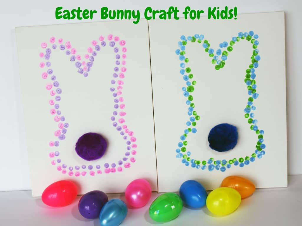 Easter bunny dot art for kids teachable mommy for Easter craft ideas for young adults