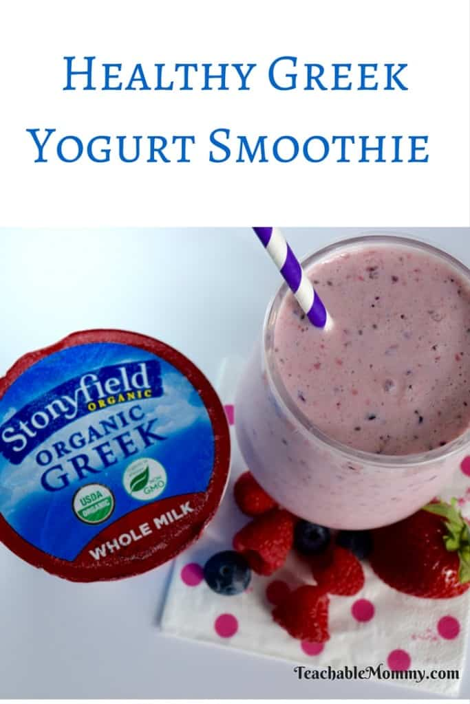 Greek Yogurt Smoothie, Healthy Yogurt Smoothie, Smoothie Recipes, Organic Smoothies, Skinny Smoothie Recipes