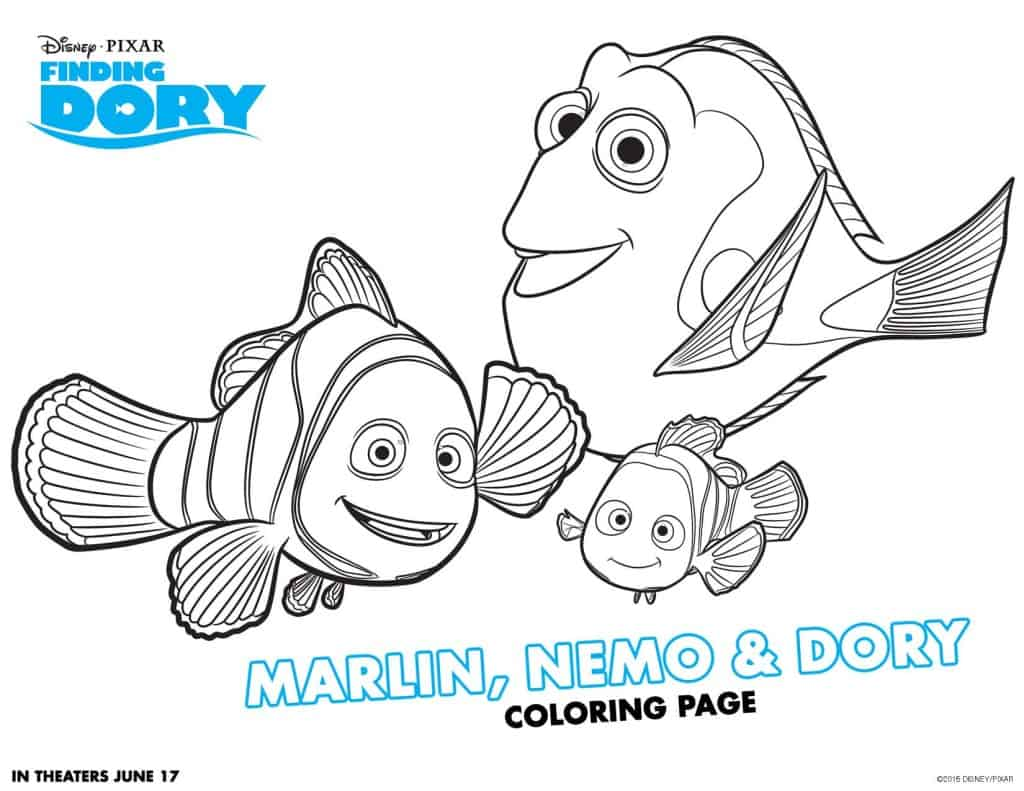 Finding Dory Free Printable Activities, Finding Dory Coloring Pages, Finding Dory Free Download, Finding Dory