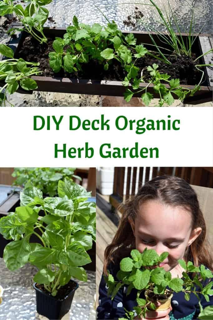 Eco Boys and Girls, ebooks for kids, Earth Day ideas, DIY Deck Organic Herb Garden, Earth Day ideas for kids, organic gardening, deck garden, deck box, #EcoBoysAndGirls #ad