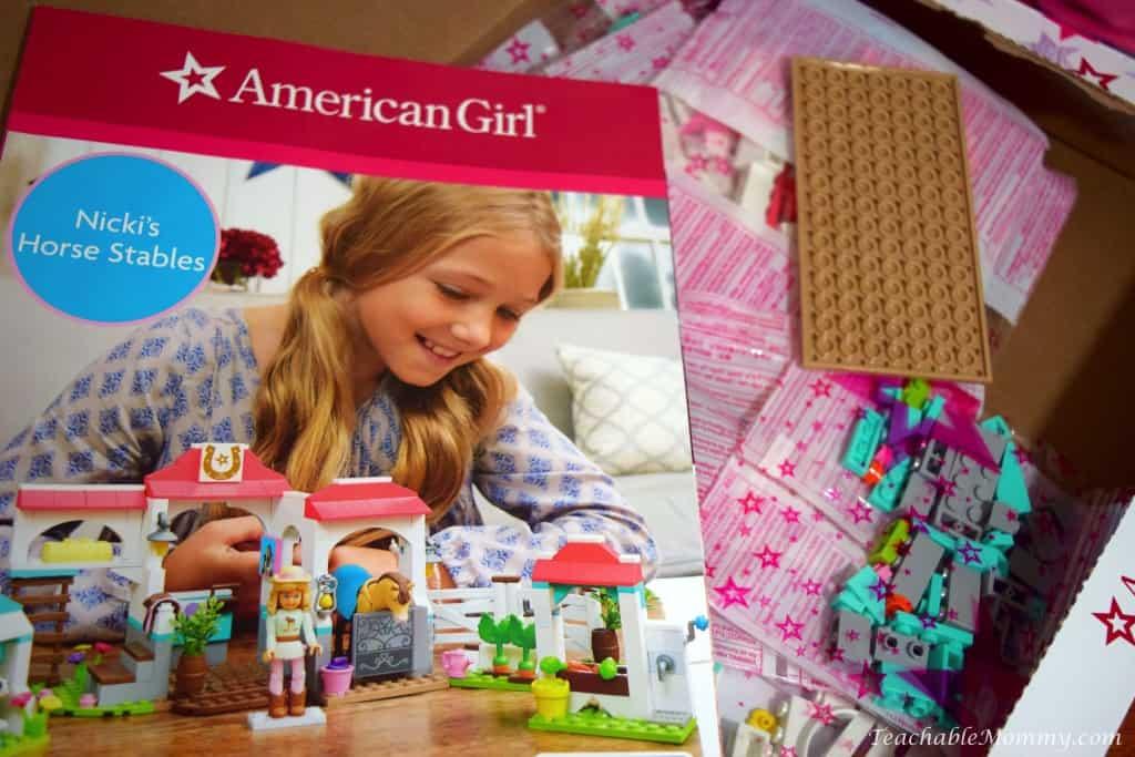 unboxing the new American Girl Mega Bloks, American Girl toys, American Girl review, Top Toys for Girls, American Girl Dolls, sponsored