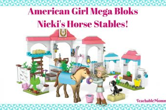 American Girl Mega Bloks Nicki Horse Stable, unboxing the new American Girl Mega Bloks, American Girl toys, American Girl review, Top Toys for Girls, American Girl Dolls, sponsored