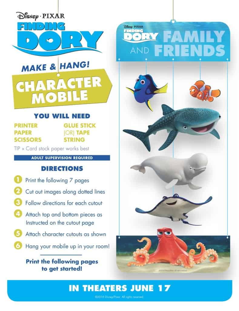 Finding Dory Free Printable. Finding Dory games, Finding Dory free printables, Finding Dory Activities