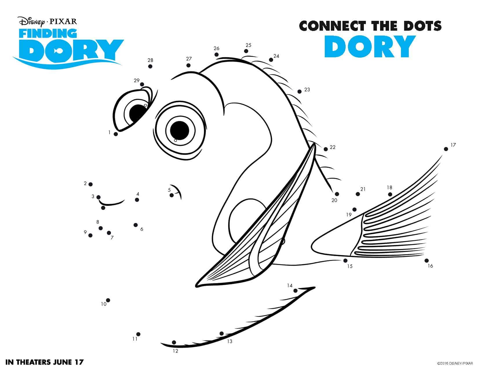 finding dory free printable activities finding dory coloring pages finding dory free download
