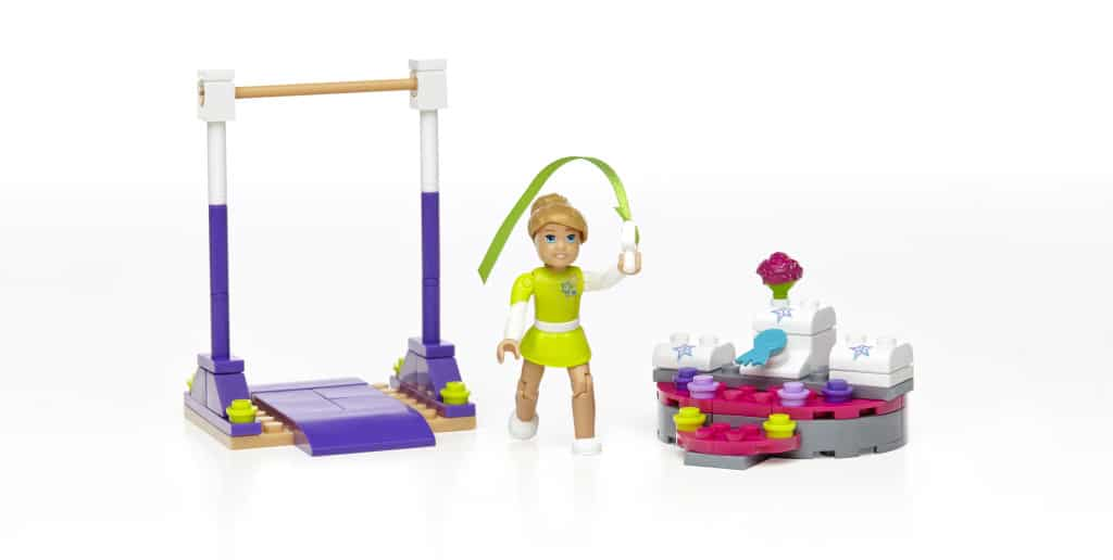 McKenna's Gymnastics Training, unboxing the new American Girl Mega Bloks, American Girl toys, American Girl review, Top Toys for Girls, American Girl Dolls