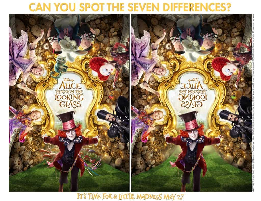 Alice Through the Looking Glass Free Printable Activities