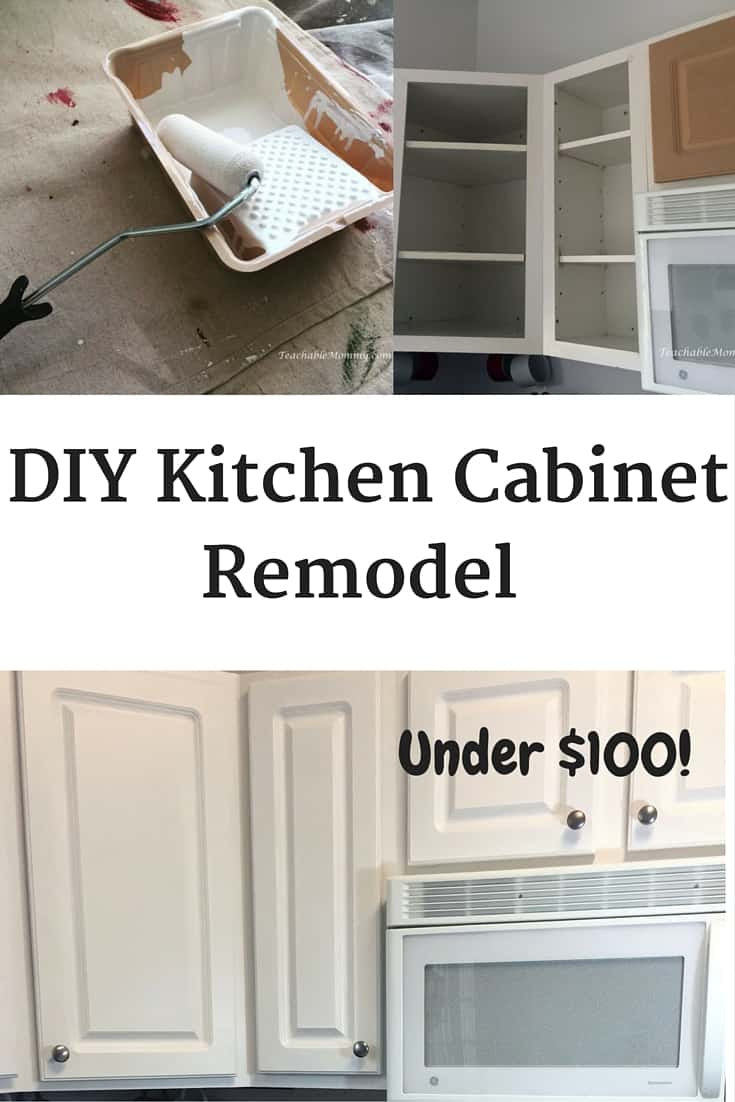 Kitchen cabinets redo diy for Diy kitchen cabinets