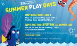 Disney Store Summer Play Days 2016!