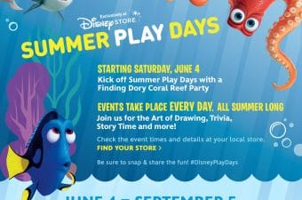Disney Store Summer Play Days 2016