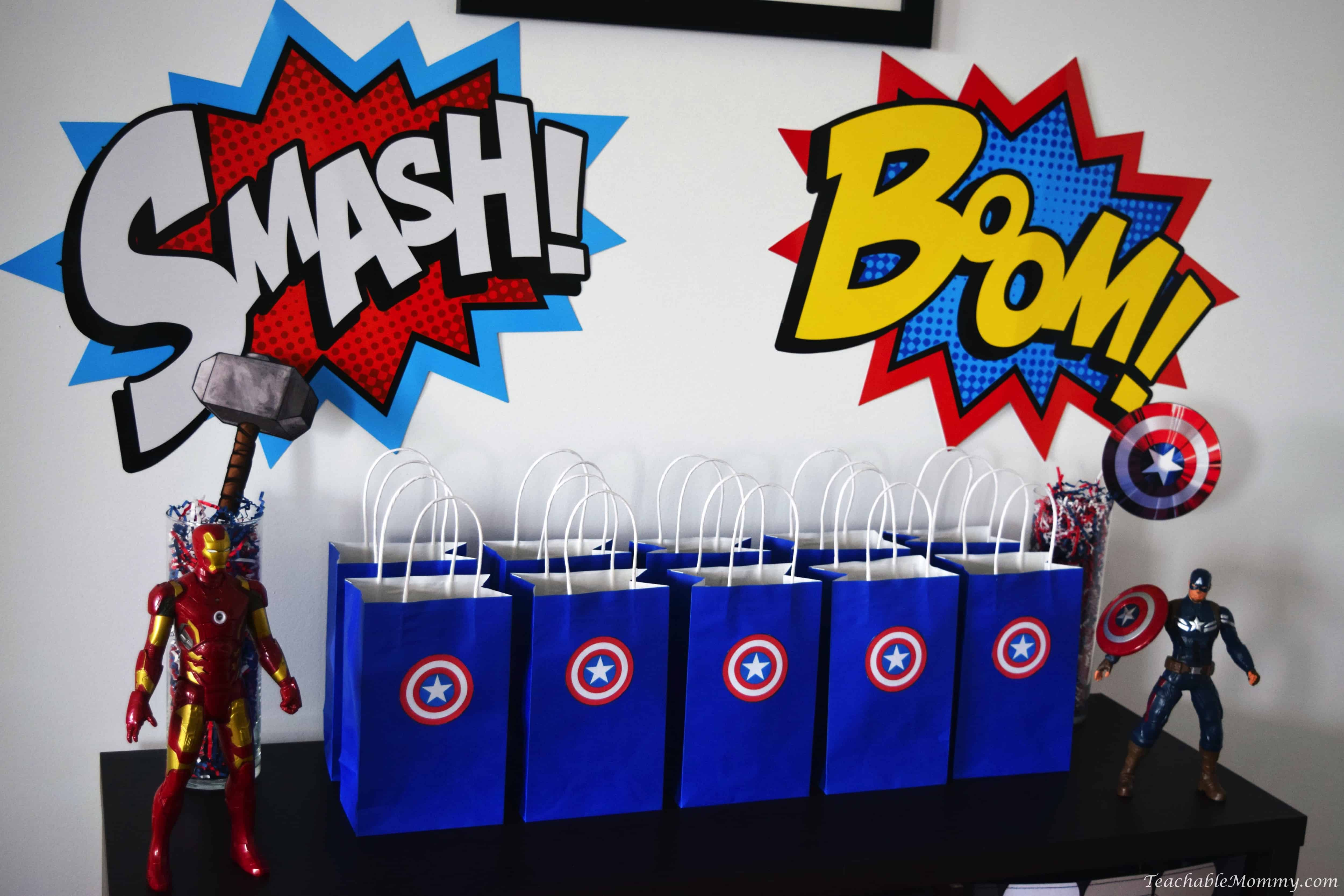 avengers birthday party teachable mommy. Black Bedroom Furniture Sets. Home Design Ideas