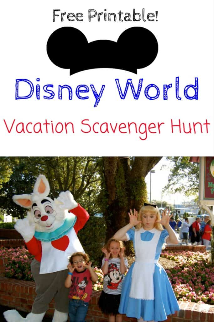Disney World Vacation Scavenger Hunt, Free Disney Vacation Printable, Disney Vacation Tips