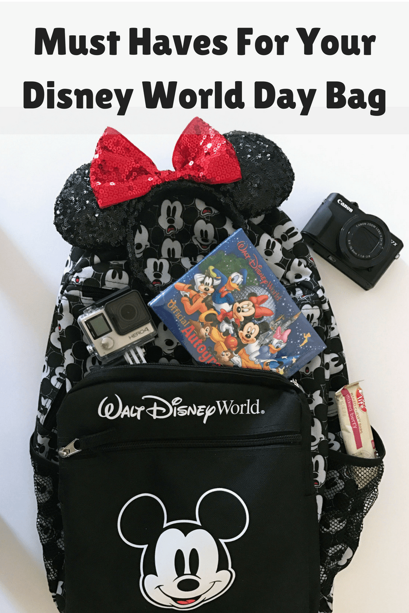 46b2620dc08 Must Haves For Your Disney World Day Bag! - With Ashley And Company