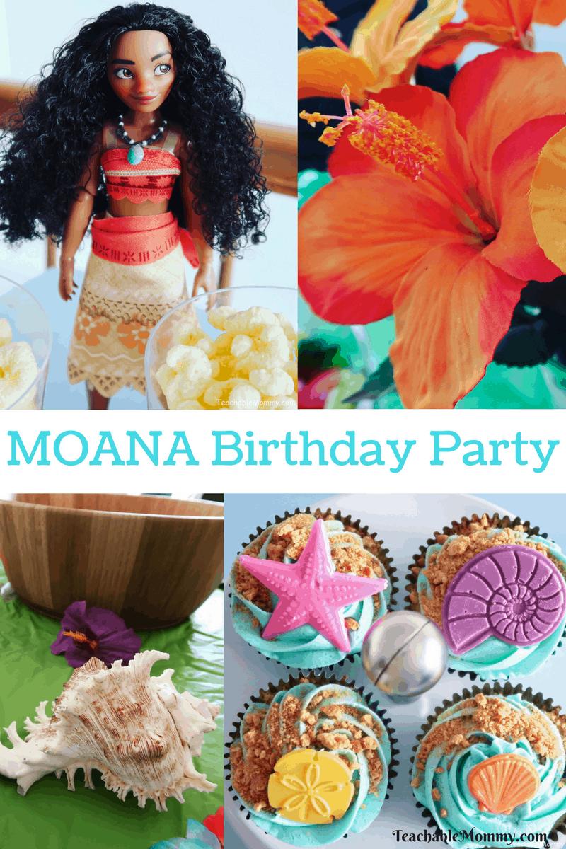 Moana Birthday Party Ideas - Teachable Mommy