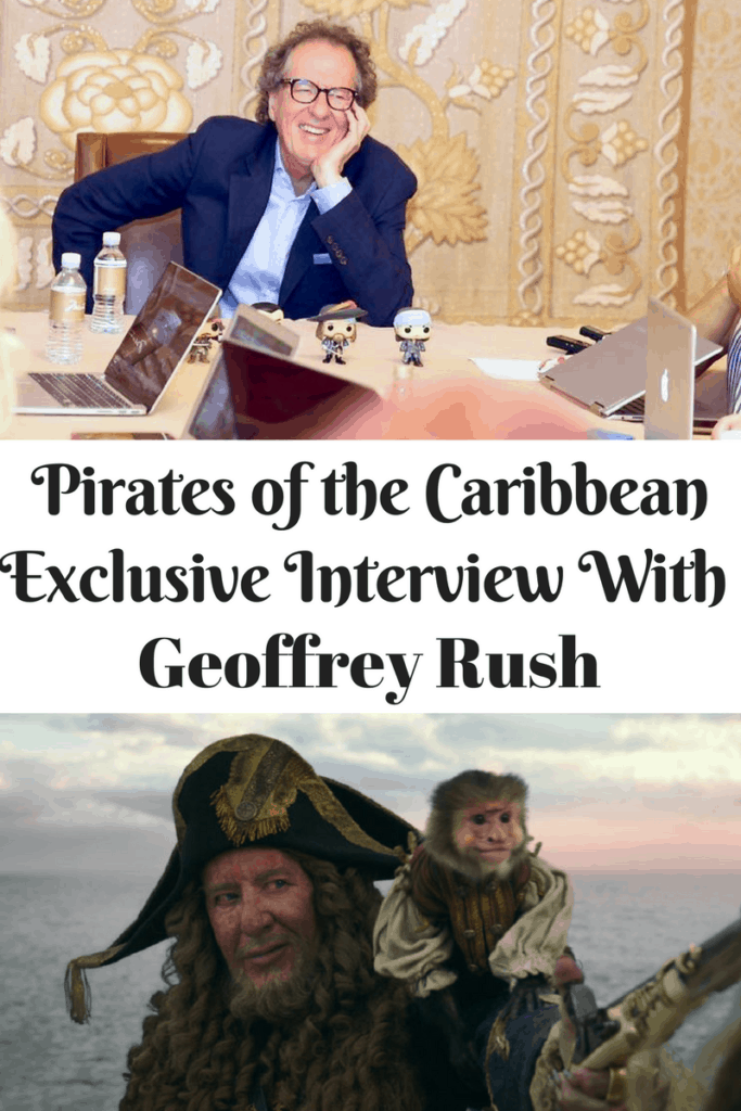 interview with Captain Barbossa Geoffrey Rush