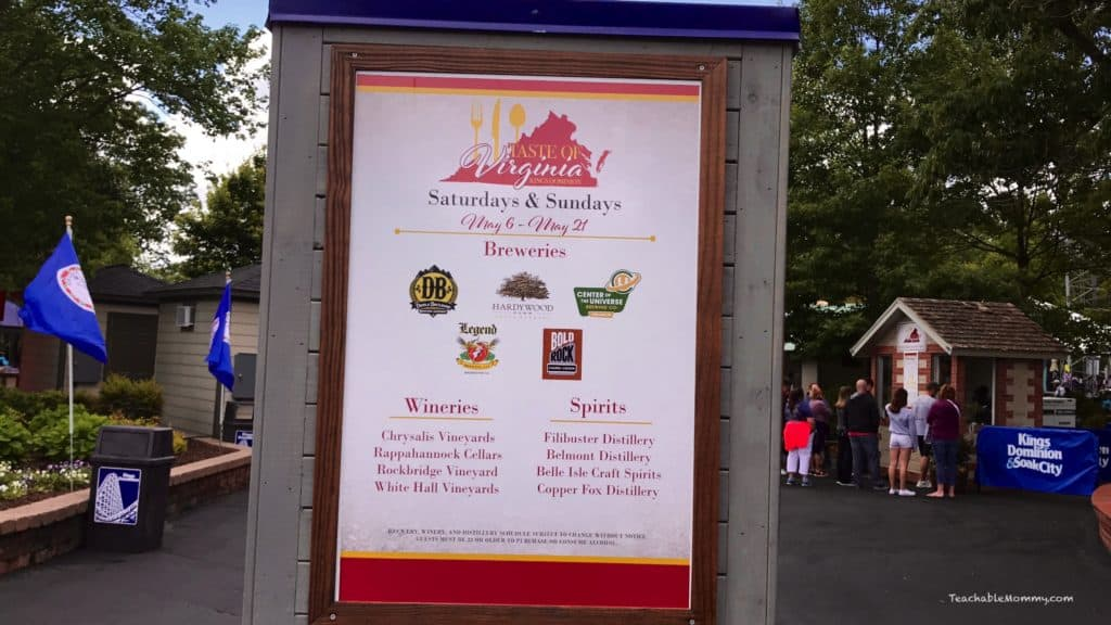 Kings Dominion Taste of Virginia