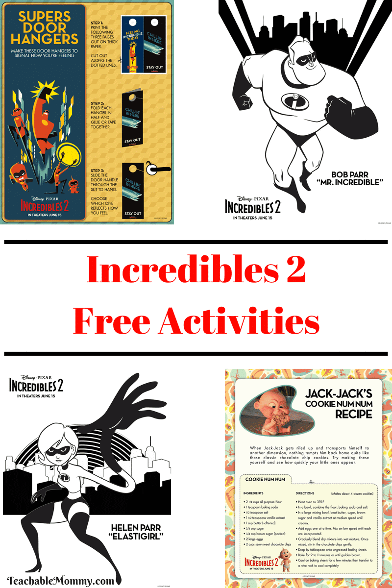 Incredibles 2 Free Printable Activities With Ashley And