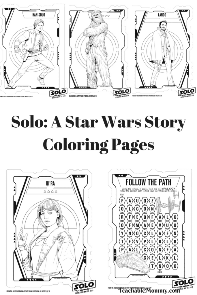 Solo Movie Coloring Pages and Activity Sheets