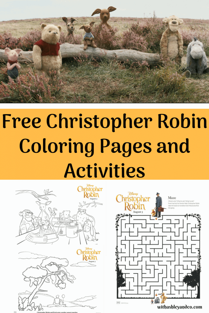 Free Christopher Robin Coloring Pages