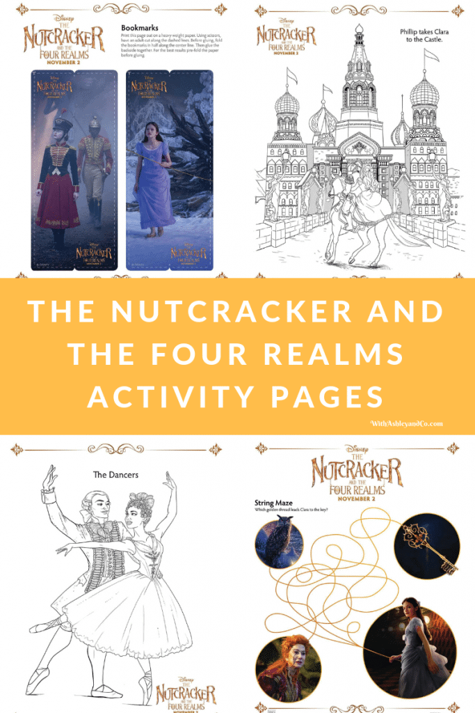 The Nutcracker and The Four Realms Activity Pages