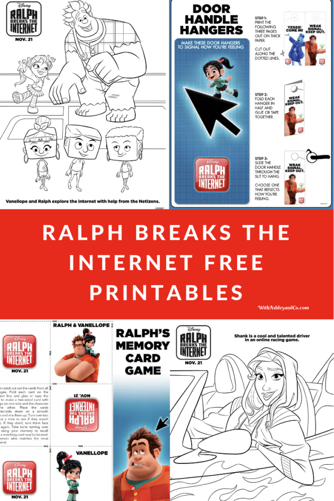 Ralph Breaks The Internet Free Printables